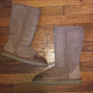 Ugg tall classic boots chestnut brown sz 7 #5815